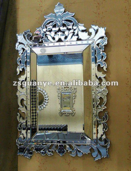 Populaire style v nitien miroir carr miroir id de produit for Miroir venitien pas cher