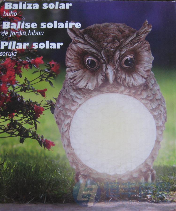 Сова - светильник с солнечной батареей