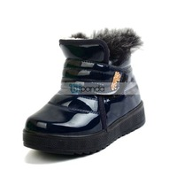 Ботинки для мальчиков 2013 Winter New Style Child Kids Boys Girls Laredo Lace up Ankle Snow Boots Velcro Paillette Cotton-padded Shoes Кожа