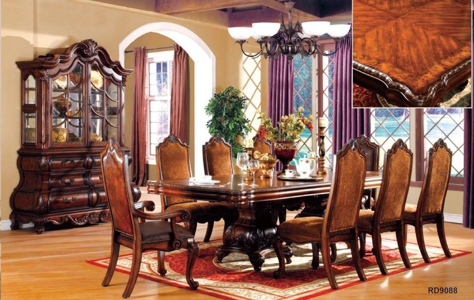 Mirokey antigo de madeira sala de jantar conjunto mob lia - Comedores antiguos de madera ...