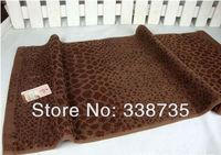 волокна бамбука зерна леопарда лицо полотенце 2 шт / много 33 * 72 см 110 г утолщенной классической мужской мочалкой в США