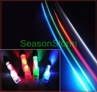 Min Order $20 (mixed order) Retail LED Finger Light / Laser Finger / Beams Ring Torch For Party (SX-36)