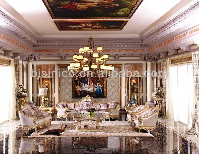 Bisini lujo europeo living room sofa muebles, Conjunto de sofás muebles de lu...