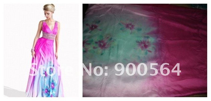 Digital printing polyester satin or CHIFFON+cotton, hemp, silk fabric ,all fabric Washing and ironing Delivery, no smell.