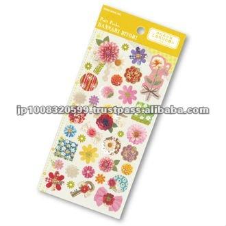 Petit Poche Sticker Chrysanthemum _ chrysanthmum fabric _ sticker printing _ stationery item _ handmade _ japanese sticker