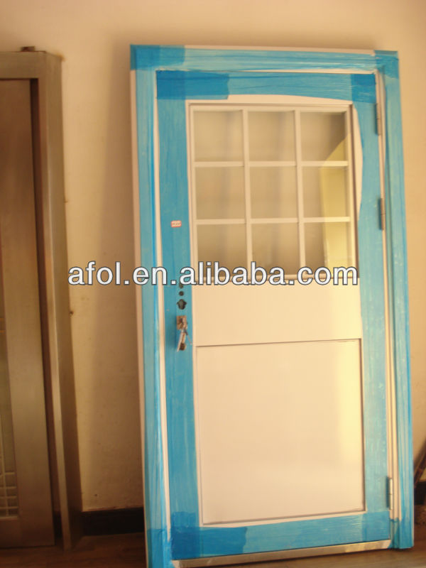 Zhejiang cheap residential fiberglass door smc exterior for Used exterior french doors