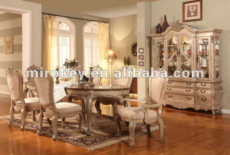 Antiguos muebles de comedor, tradicional de madera juego de ...