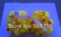 EMS DHL Free shipping Yellow 4cm   Baby Bath Toy Rubber  Ducks toys sounds duck with 500Pcs/lot
