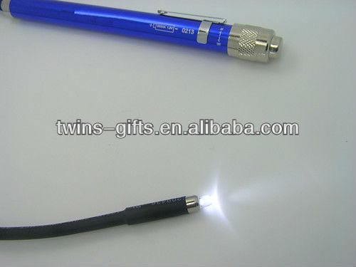portable aluminum flexible led flashlight with tube