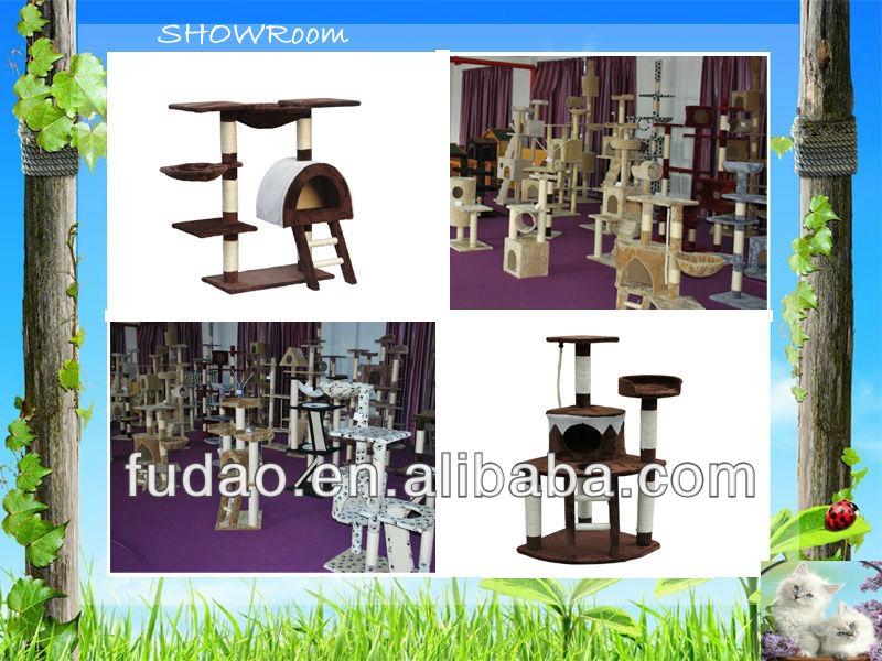 2014 Hot selling cat scratching tree anji cheap cat toys