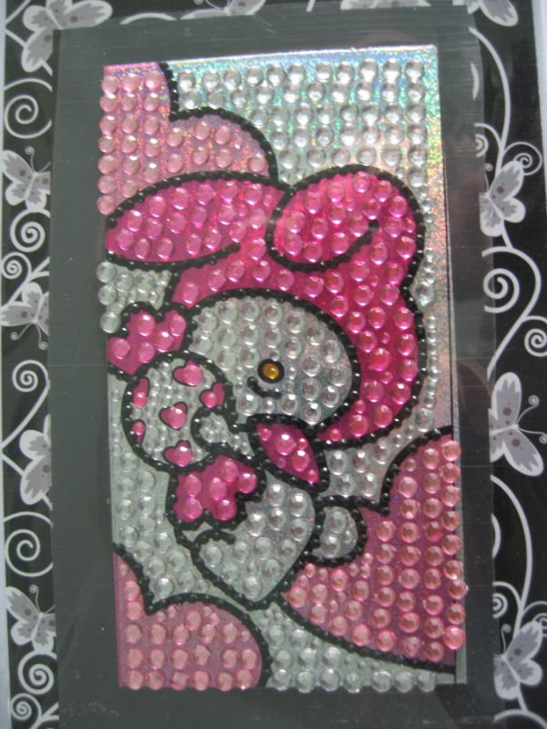 Crystal Tattoo stickers. 1) Fashionable rhinestone are made of acrylic