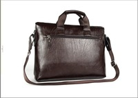 Маленькая сумочка black&brown]+100% Guarantee genuine Leather Popular Men's Briefcase Laptop Handbag Messenger Bag