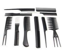 Расческа для волос 1set/10pcs Salon Barbers Hair Styling Hairdressing hair accessories Plastic Comb Stylist Set Black Tool