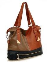 The new fashion contrast color bag/hand bill of lading shoulder female bag exempt postage