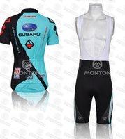 Женские велошорты с лямками High quality 2011 New WOMAN Tour de France subaru Team Cycling/Bike jersey+ bib shorts SIZE S/M/L/XL/XXL F15