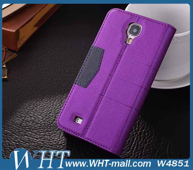 Fashionable Design Leather Flip Case for Samsung Galaxy S4 i9500,for Galaxy S4 Cover Case