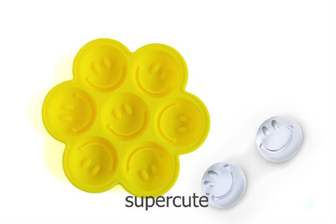 Food Grade Unique Design Fancy Bar Silicon smile face ice cube tray