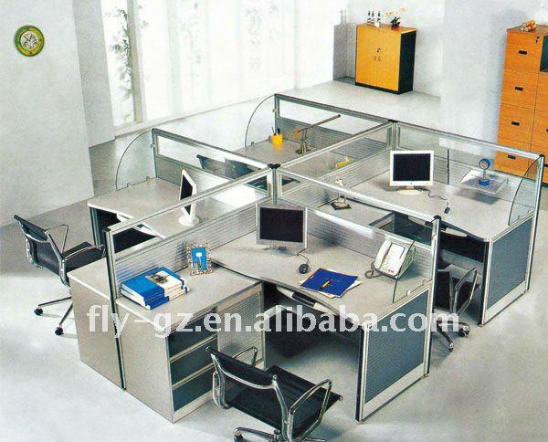 Glass Cubicle Partition/computer Desk Partition/aluminum Workstation
