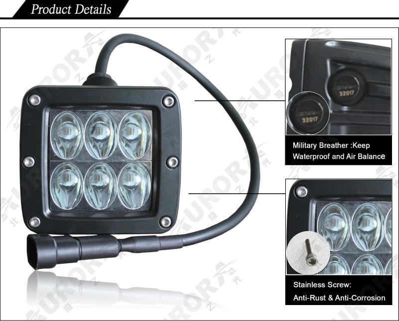 cheap AURORA 2inch led work light,led off road atv