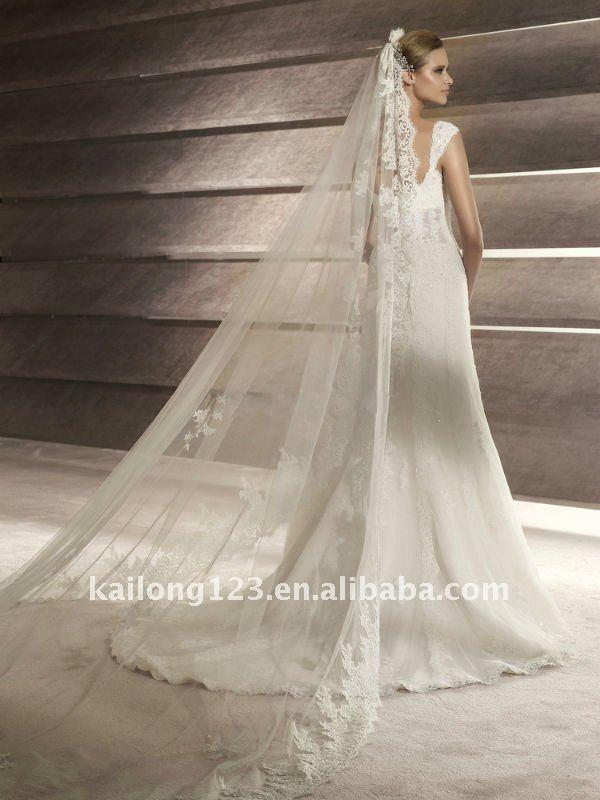 New Arrival Slim Aline Lace Cap Sleeve Beaded Wedding Dresses Detailed
