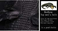 Мужской ремень ManBang 2012high rs 100% MB0062 Silver  Crocodile leather