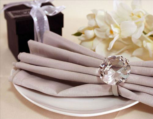 a07473 wholesale cheap napkin rings with crystal for wedding crystal