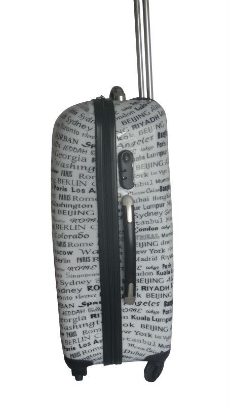travel trolley luggage bag 2013 Hot selling fashion ABS+PC film printing trolley luggage bag