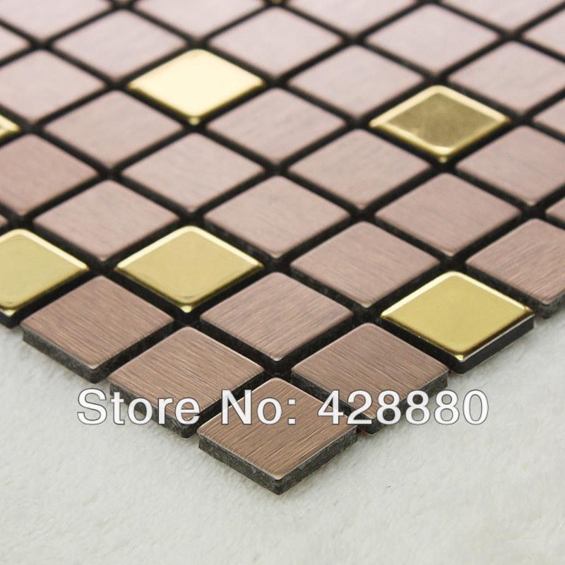 brushed aluminum foil metallic mosaic tile stainless steel m