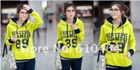 Женская кофта для спортивной ходьбы 2012 fall and winter clothes new Korean letters ladies long-sleeved fleece sweater suits head hooded thick sweatshirt