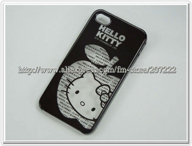 20pcs/lot wholesale beautiful cover skin for iphone 4, hello kitty case for Iphone4 4S retail packaging/freeshipping