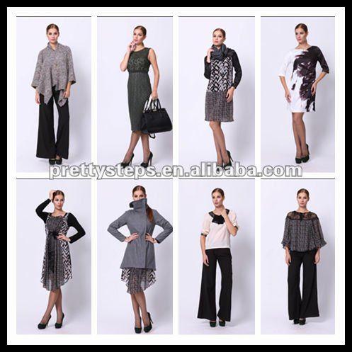 Pretty Steps china wholesale poly crepe black fashion dress 2012