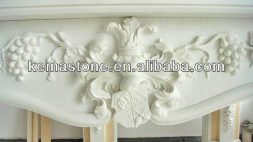 Popular used gas fireplace mantel