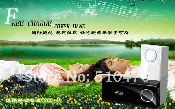 Freeshipping by ChinaPost Hot 5200mAh High Quality Portable Battery Pack M0152 support all mobilephone 2PCS/Lot