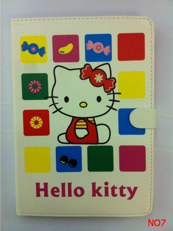 Cartoon Cute Hello Kitty Stand Pu Leather Case for ipad mini