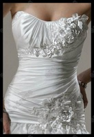 Свадебное платье Best Sale Sweetheart Court-Train Satin Wedding Dress With A Wrap MS-A015