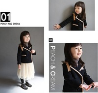 Formal baby coat/Black girl coat with bowknot/2012 Autumn Winter new design