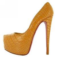 Туфли на высоком каблуке Shoes pumps high heel platform peeptoe shoes fashion summer high heels wedding pumps Drop Shipping China Custome