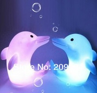 2012 top selling brand new Baby Kids Bath Toy LED Flashing Dolphin Light Lamp
