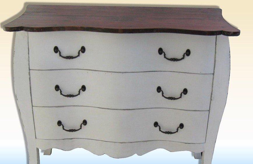shabby chic francés blanco pintado de mueblesMueble de madera