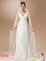 3 M One-tier Tulle Cathedral Veil Wedding Veil White Ivory In Stock Wedding Accessories