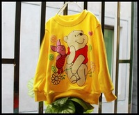 Футболка для девочки POOH boys t shirt MOQ: 1pcs 5color Kids clothes t shirts for children baby clothing