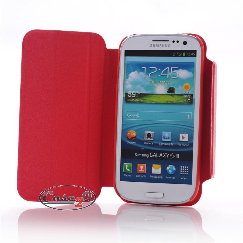 Samsung Galaxy S3 Plain Leather Flip Case