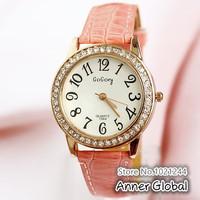 Наручные часы New Gogoey Clock Women Rhinestone Watch Women Dress Watches Leather Relogio Feminino Gaga Deals Wach Cute Pink Colors Reloj