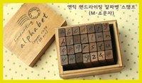 Печать Creative Vintage Letters And Numbers Stamp 28Pcs/Set Stationery stamp Decorative DIY Funny Work