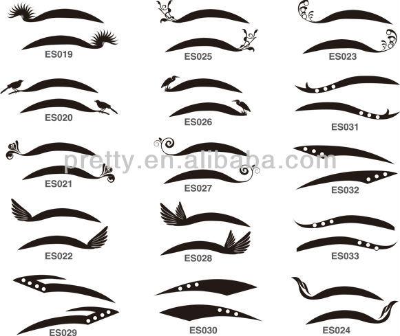 Temporaire eyeliner autocollants/autocollants de tatouage d'oeil