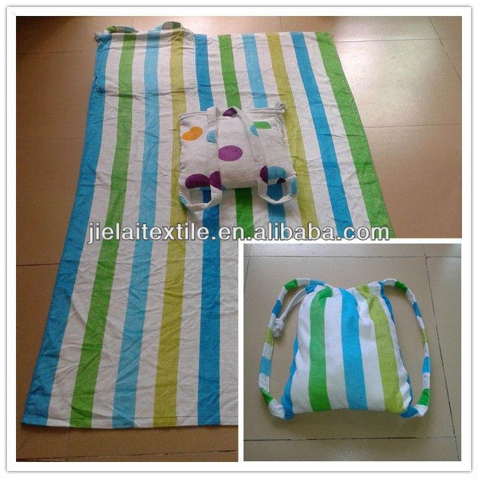 Cotton Beach towel bag pattern with printing logo