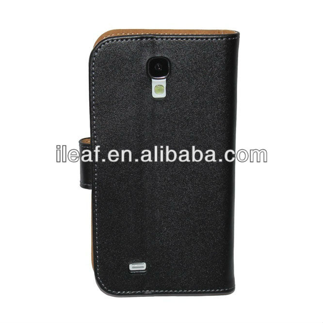 Galaxy S4 Flip Case,New Wallet Genuine Leather Case For Samsung Galaxy S4 i9500