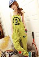 Lady's Blouse Jumpsuit Women's jumpsuit overall Harem pants Letter overalls leisure trousers piece pants