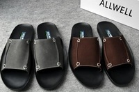 Promotion 2012 summer new men's trendy suede cowhide beach sandals,leisure slippers,special offer,free shipping,SMB581