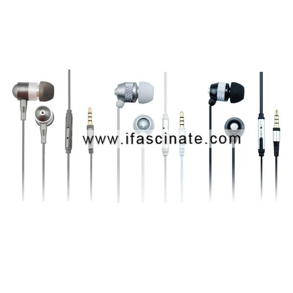2014 Plastic & Aluminum waterproof headphones with micphone pass IPX8